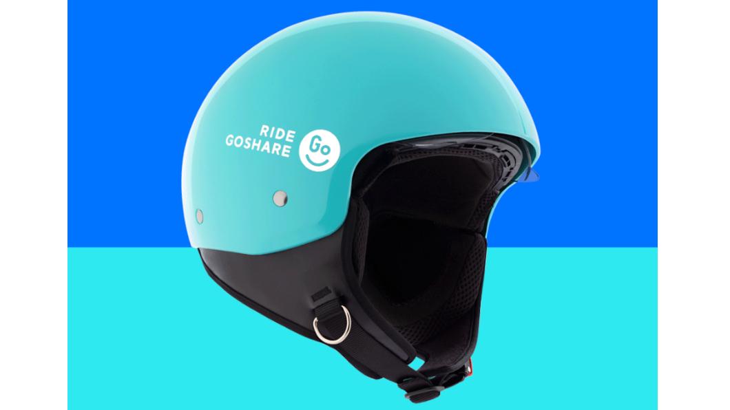 GoShare移動共享服務,業界首次引入「內藏式擋風鏡」3/4 罩安全帽,即日起於大台北地區與高雄市服務。(圖片來源/ Gogoro) Goshare過年換新帽! 挑戰換電最高獨享8,888元騎乘金