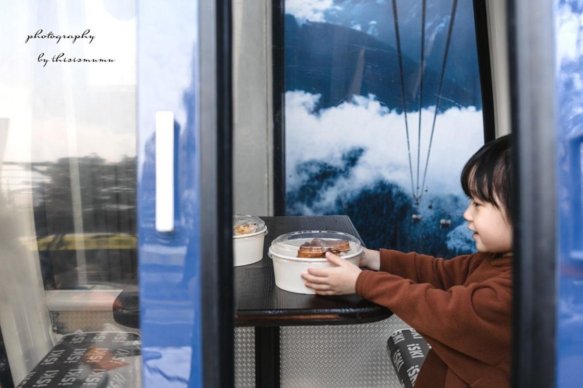 親子偽出國!竹北小木屋餐廳賞滑雪吃日式洋食,纜車包廂好好拍