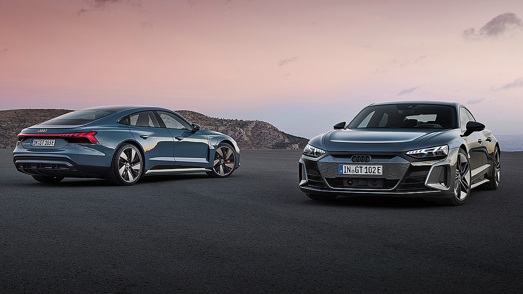 Audi首款電動四門跑車e-tron GT正式發表亮相。(圖片來源/ Audi) 鋼鐵人座駕e-tron GT零百加速只要3.3秒 充電5分鐘可跑百公里