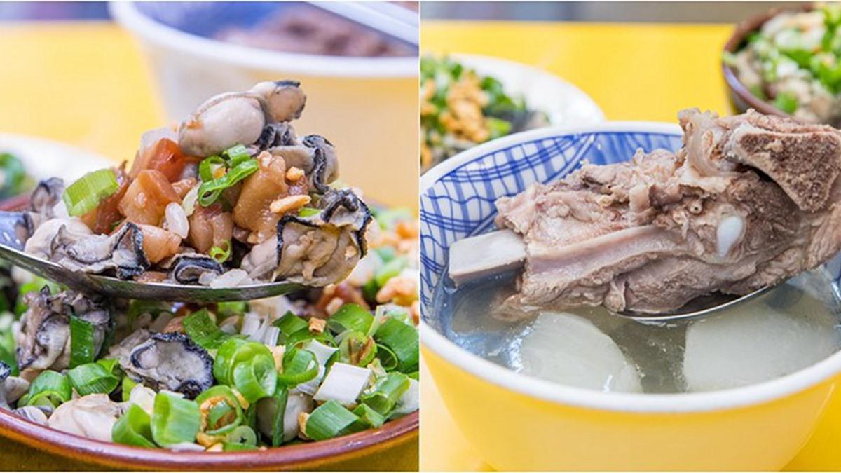 50年老店新創意!華西街浮誇系滷肉飯吃得到滿滿蚵仔,超清澈排骨湯一喝就驚豔