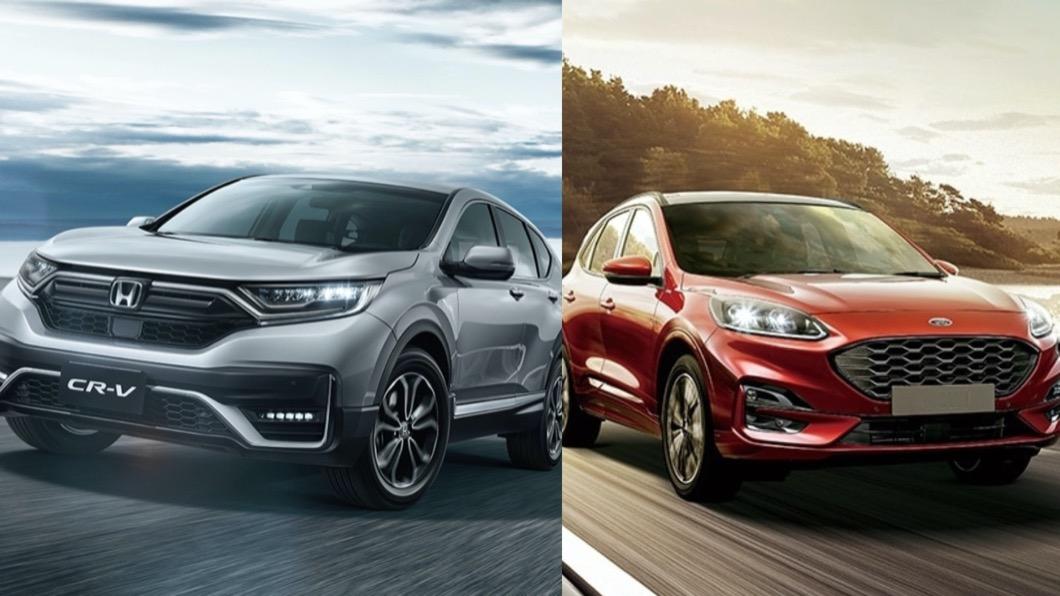 Ford Kuga與Honda CR-V,自去年上市以來便展開拉鋸戰。 CR-V穩坐2月中型休旅冠軍 Kuga產能回復再戰!