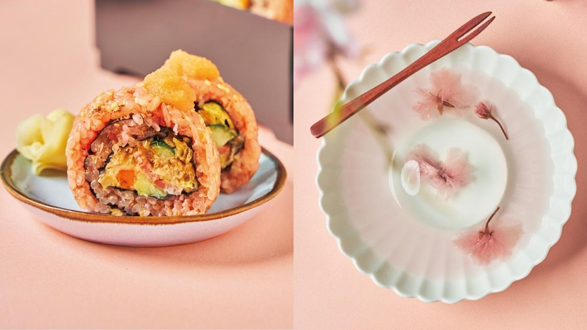 甜點控先收藏!一禾堂「漬櫻花豆乳冰淇淋捲」這天開賣,櫻色柚香沾麵、水信玄餅太夢幻