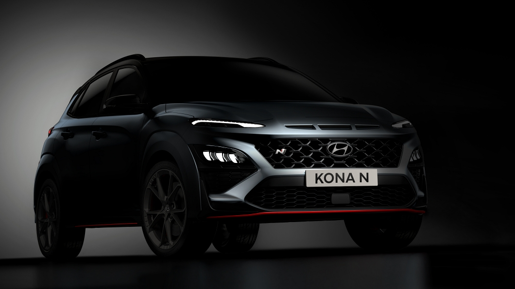 Hyundai釋出Kona N的外觀預告影像。(圖片來源/ Hyundai) Kona N外貌率先曝光 Hyundai首款性能休旅呼之欲出