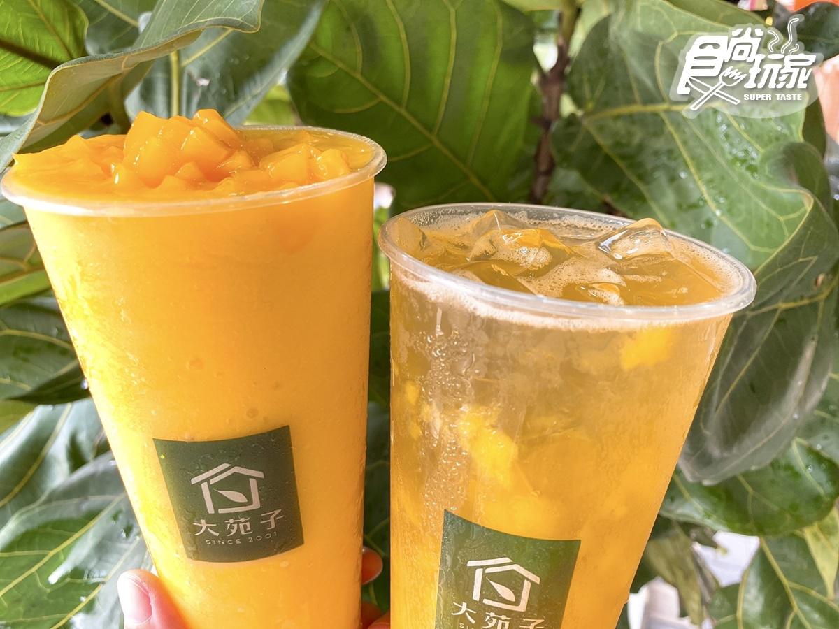 手搖控喝爆!大苑子「綠光梅果釀」買一送一,端午限定「愛文芒果冰沙」1杯只要7元