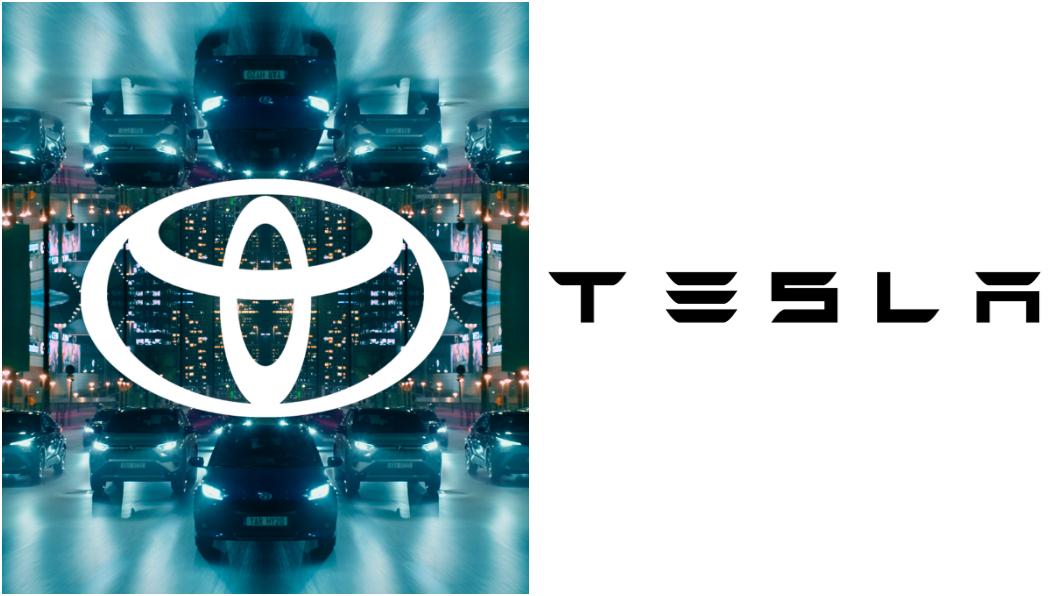 外傳Toyota與Tesla將攜手合作。(圖片來源/ Toyota、Tesla) Toyota口嫌體正直? 傳將與特斯拉合推平價電動休旅