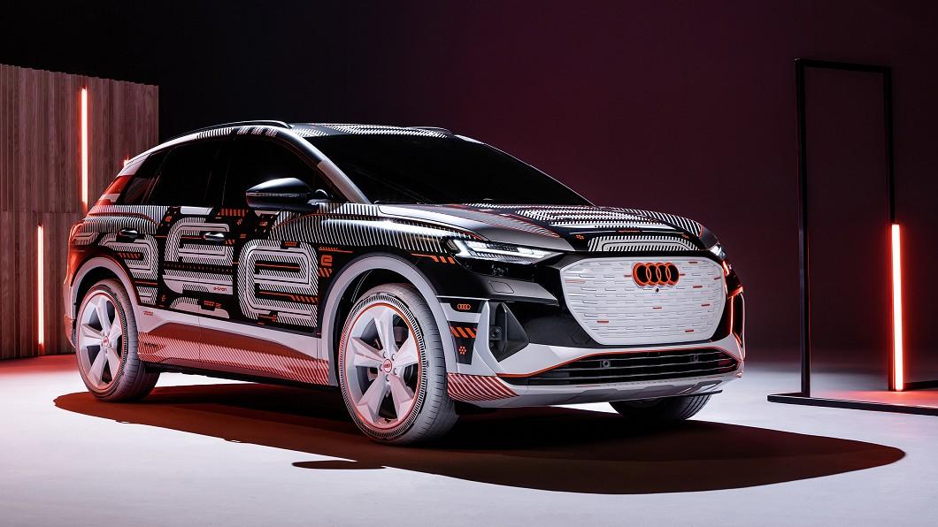 Audi e-tron確定將於歐洲時間4月14日全球首演。(圖片來源/ Audi) 會是Model Y大勁敵? Q4 e-tron預告14日發表
