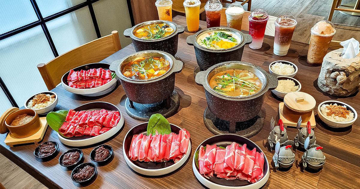 【新開店】第2鍋半價!網美系小火鍋主打「法式湯底」,50種飲品選項不輸飲料店