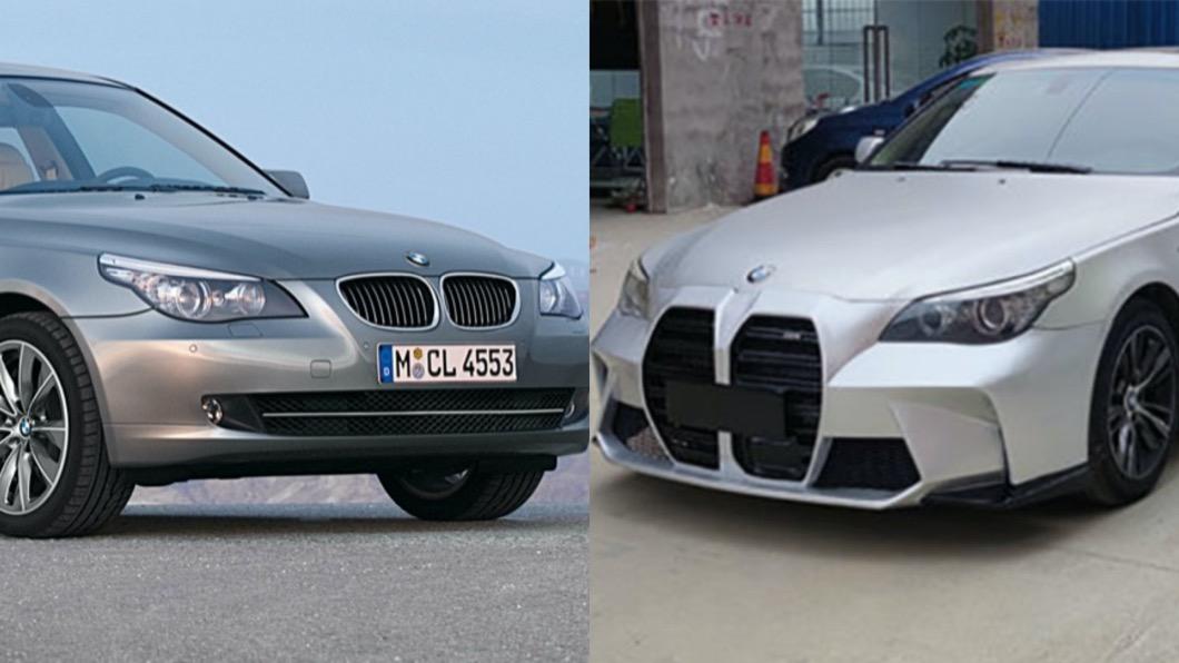 最近在中國掏寶網上出現了一組前保桿,並且標榜能讓愛車更貼近全新M3/M4樣貌。(圖片來源/ BMW、淘寶網) 大鼻孔就是有人愛! 5系列「擴鼻」套件淘寶買得到