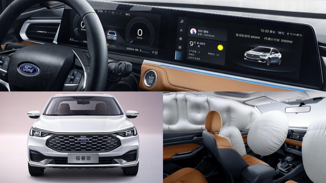 近期長安福特汽車預告,全新Escort即將於4/12正式推出。(圖片來源/ 長安福特) 雙螢幕組合很「賓士」? 全新Ford Escort曝光