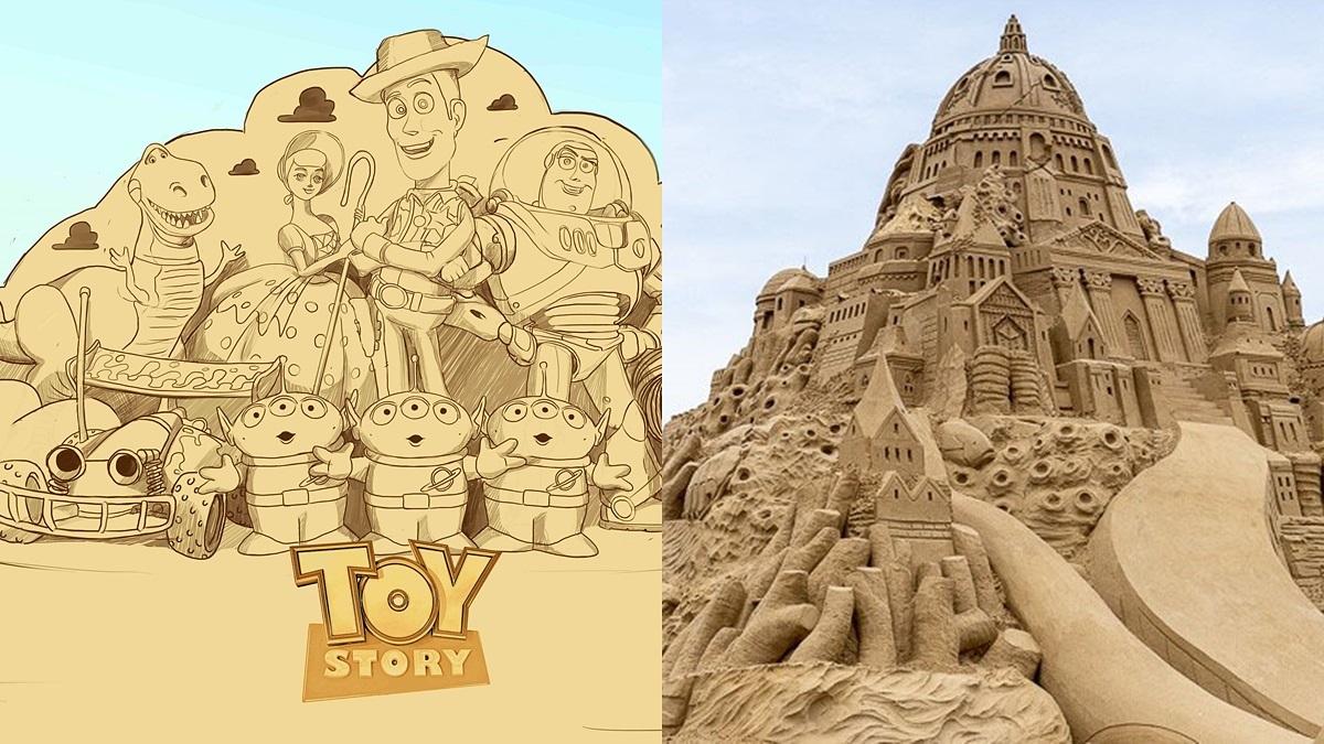 全台首次「皮克斯沙雕季」!必拍8公尺高「玩具總動員」,40座超狂沙雕這天開始現身
