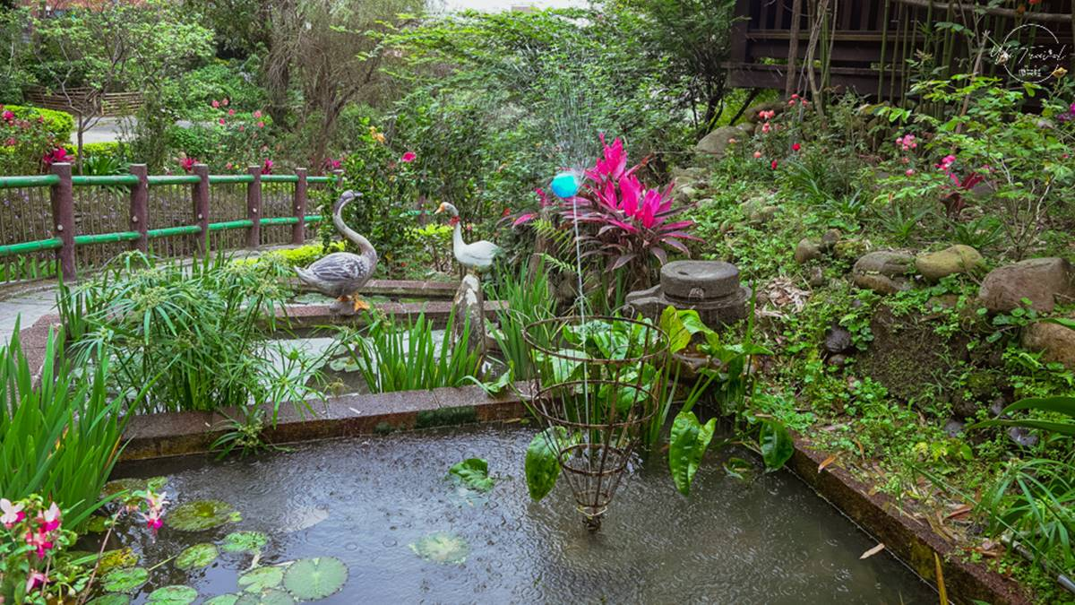 免費賞花點+1!小木屋前美拍「蝶舞花海」好夢幻,小綠龍造型植栽也可愛