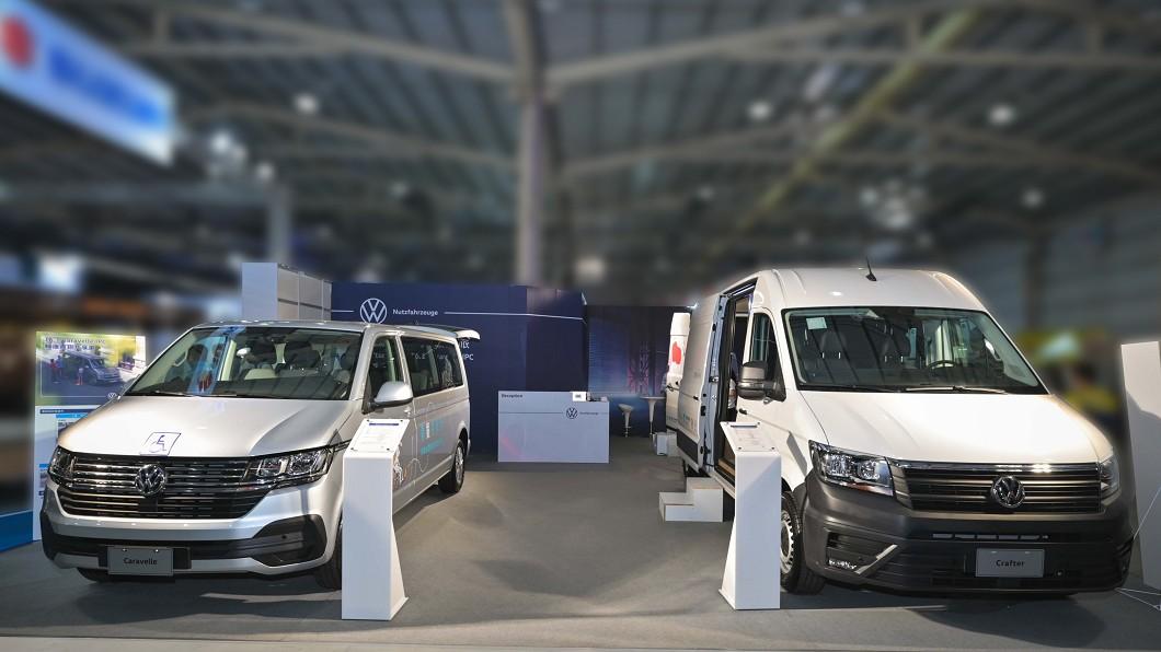 福斯商旅同步發表T6.1 Caravelle青銀共享車與Crafter新世代健康行動車。(圖片來源/ 福斯商旅) 福祉車也能露營? 福斯商旅推T6.1青銀共享車