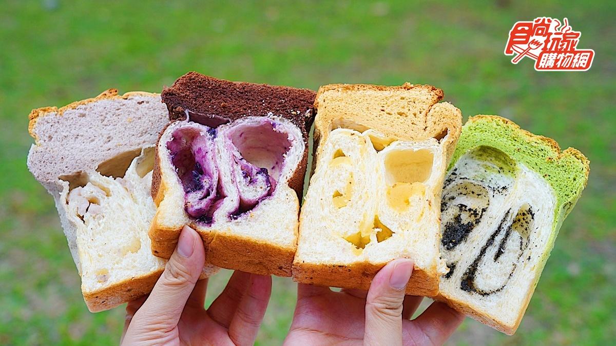 蛋糕+吐司一次擁有!IG夯爆繽紛系「蛋糕吐司」食尚獨賣,芋泥肉鬆、黑糖麻吉必吃
