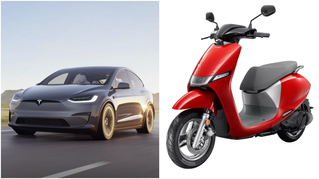 近日公佈的電動車民調結果顯示,有高達9成民眾支持臺灣發展電動運具相關產業。(圖片來源/ Tesla、光陽) 還對電動車感到猶豫嗎? 近9成民眾支持發展電動車產業