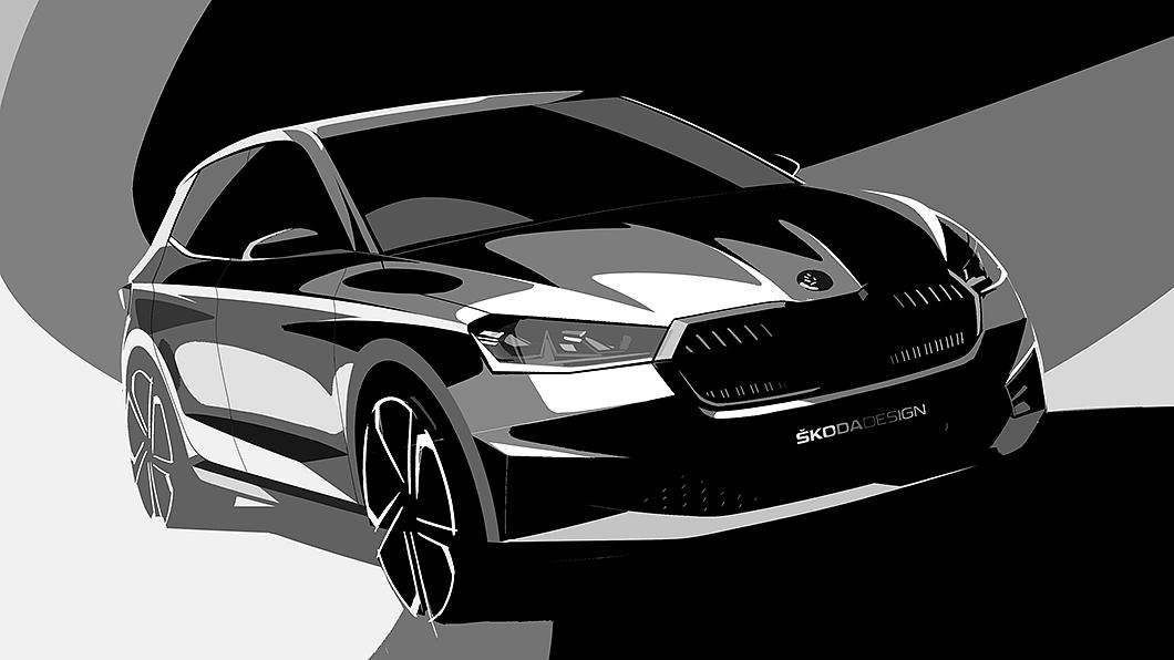 新世代Fabia外觀設計首度曝光。(圖片來源/ Škoda) 最帥Fabia即將出閘 預告圖展現全新設計