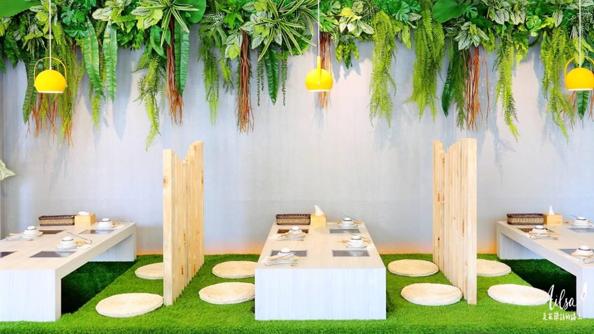 水水開嗑!高雄5家美拍系個人鍋:野餐感草皮座位、Q萌狗狗冰磚、綠植叢林風裝潢