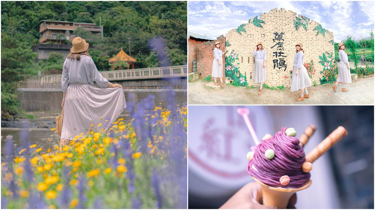 網美衝打卡!萬里親水步道「杜鵑&法國薰衣草」超好拍,還能順遊吃「紫色」霜淇淋