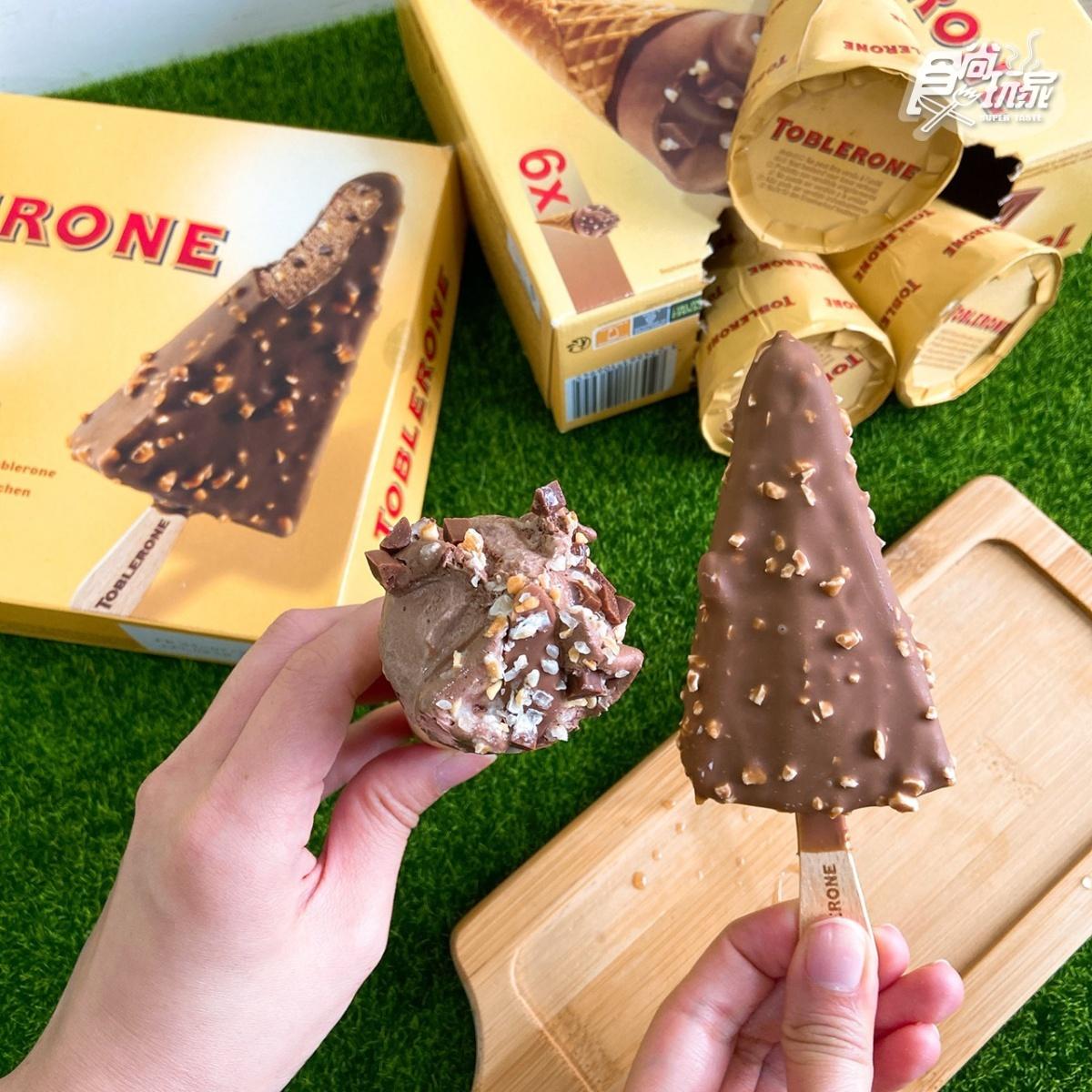 雪糕+甜筒一次擁有!「瑞士三角巧克力甜筒」新上架,香濃巧克力+杏仁粒太邪惡
