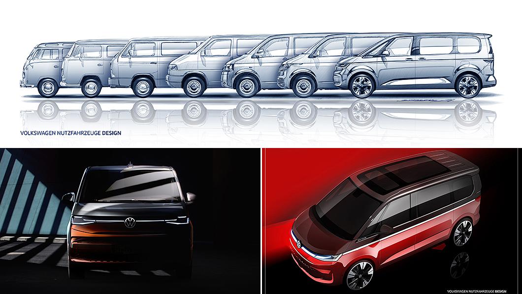 福斯商旅再度釋出T7 Multivan預告,並確定將於6月中旬首演。(圖片來源/ Volkswagen Commercial Vehicles) 最帥世代Multivan外觀首曝光 T7預告6月中旬發表