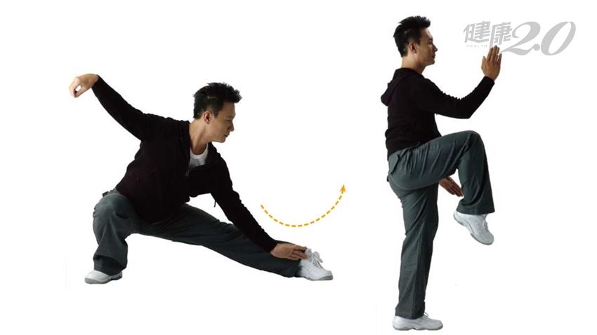 1招通脾、強肝、補腎!「單鞭下勢」改善血循 腿有力、腦不老