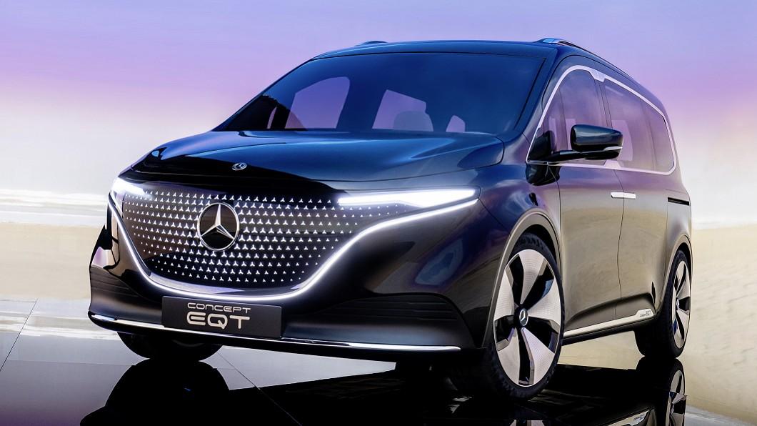 M-Benz 在5/10發表全新EQT Concept,這款車展示M-Benz未來的T系列家族輪廓。(圖片來源M-Benz) 賓士發表7人座純電商旅車 EQT Concept正式亮相