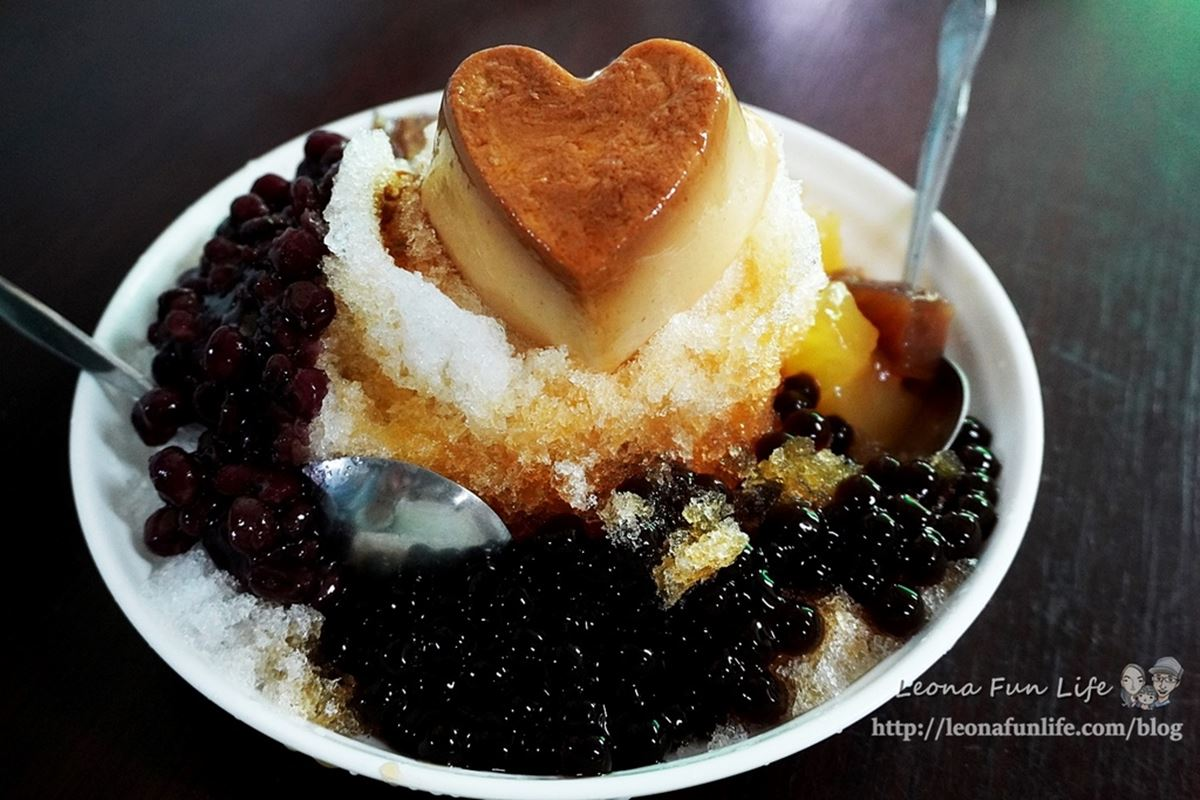 40年起跳!台中4家古早味剉冰:超萌心形布丁、自製冬瓜黑糖水、香蕉油蜜豆冰