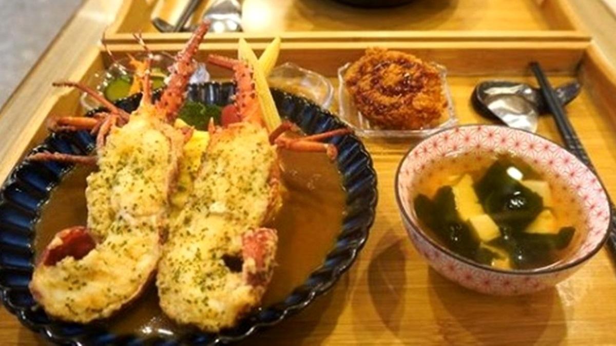 咖哩控筆記!基隆浮誇套餐吃得到「漁港現抓大龍蝦」,手拍漢堡肉入口Juicy也必嘗