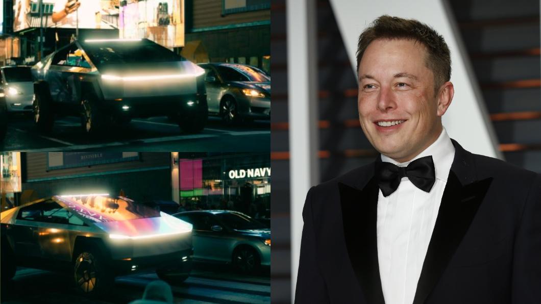Cybertruck測試車在紐約遭捕獲,Elon Musk表示外觀跟實車相去不遠。(圖片截自推特) Cybertruck測試車在紐約被捕獲 Musk:實車差不多就長這樣