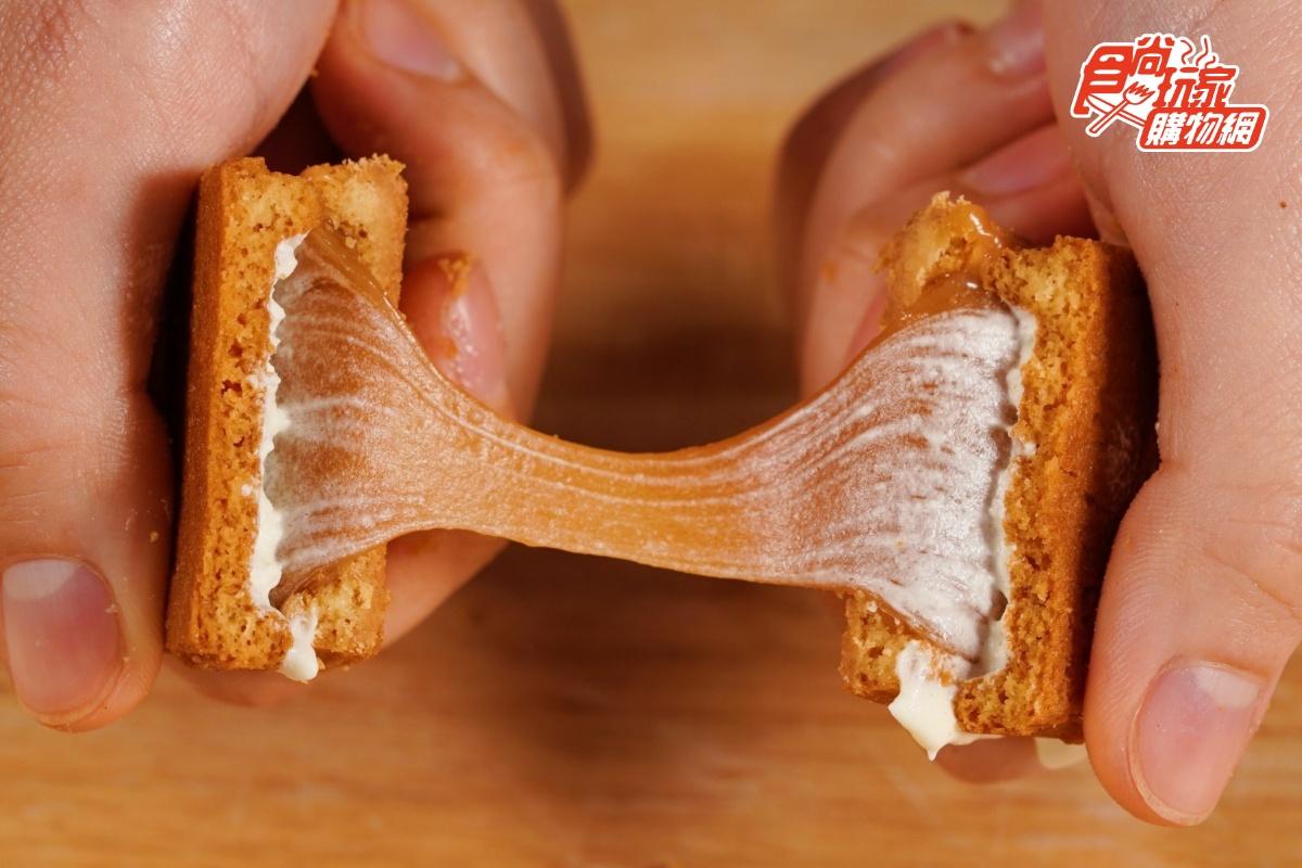 牽絲焦糖太犯規!簡單李「雙層夾心餅」食尚獨賣3種組合口味,花生肉鬆、芝麻奶油必吃