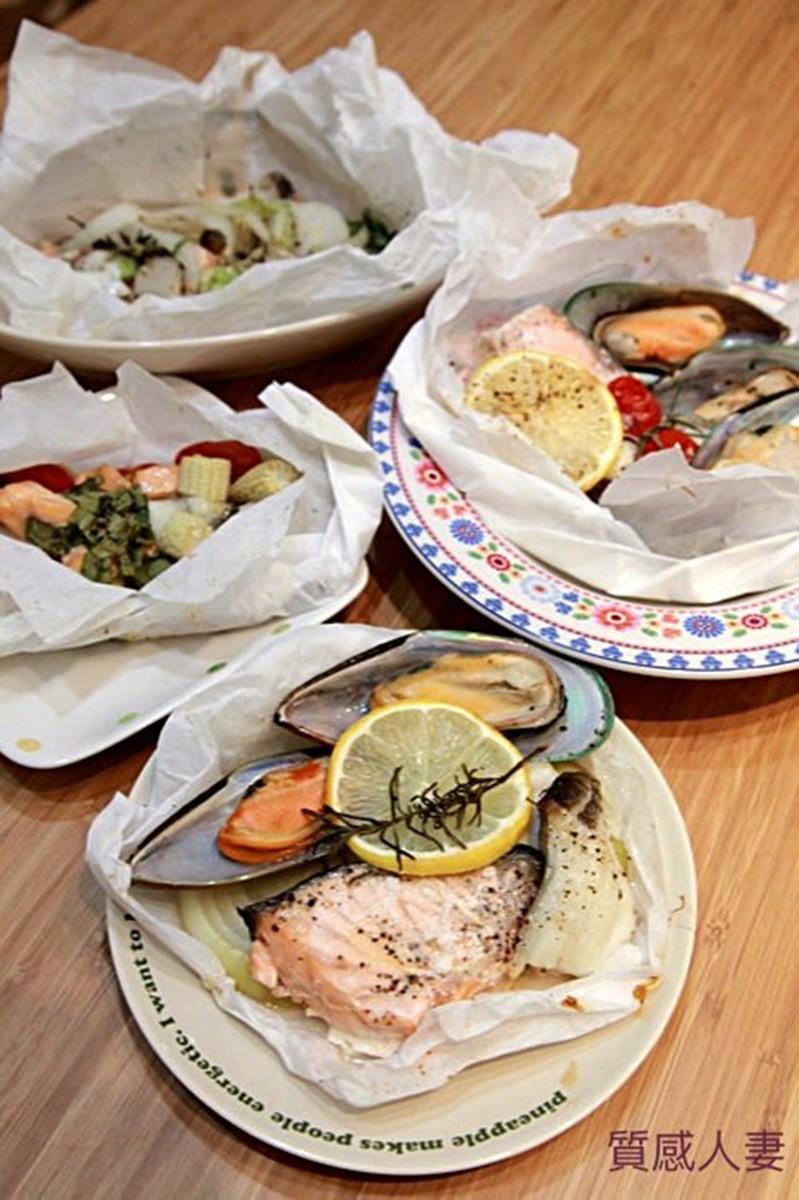 「懶人料理」幼稚園小孩也能一起DIY!「爐烤紙包海鮮」超簡單,有烤箱就能做
