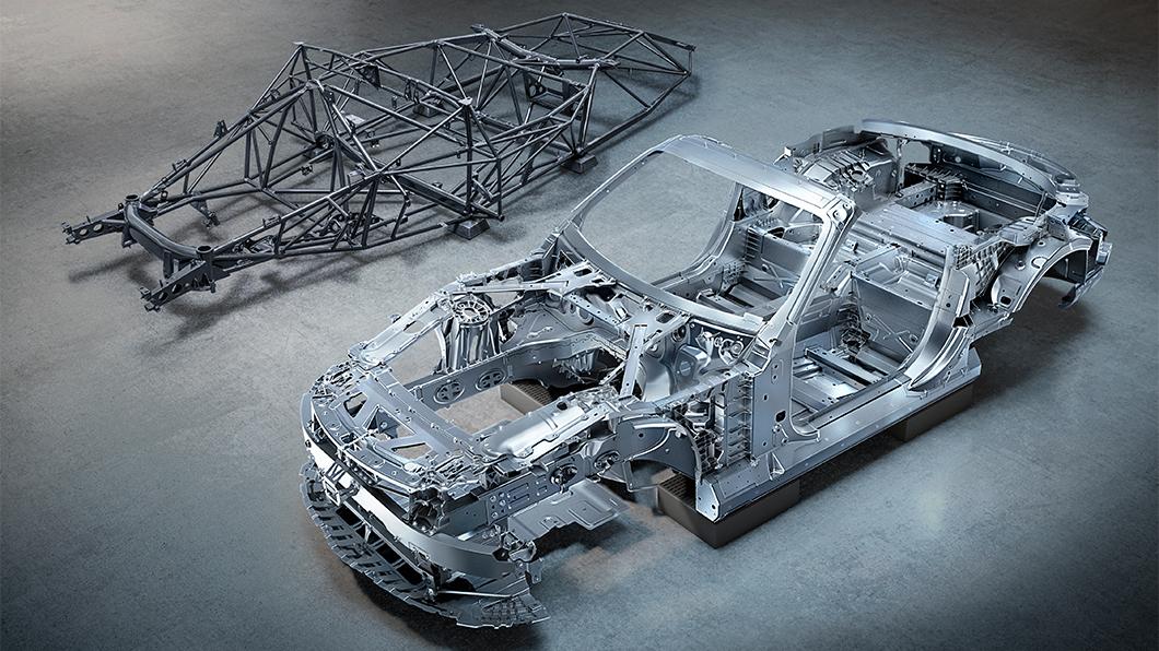 M-Benz公布新世代SL車身結構,車身扭轉剛性比前一代提升18%。(圖片來源/ M-Benz) M-AMG打造新世代SL 車架全部砍掉重練!