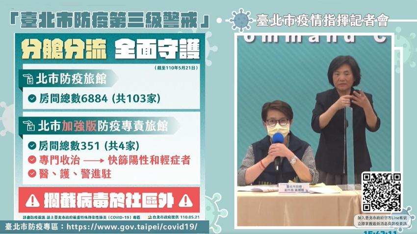 台北市首度公開各區確診人數 並宣布4家加強版防疫旅館為「方艙醫院」
