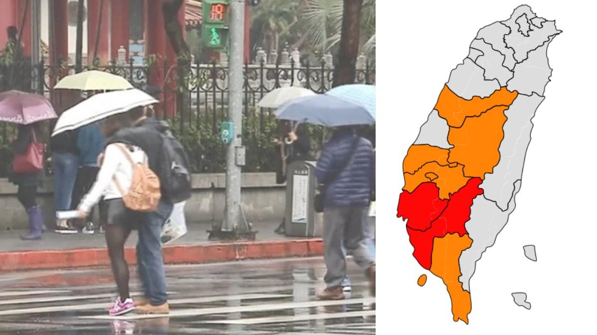 全台都有雨!8縣市高溫特報,明晚「滯留鋒報到」下週二、三有較大雨勢