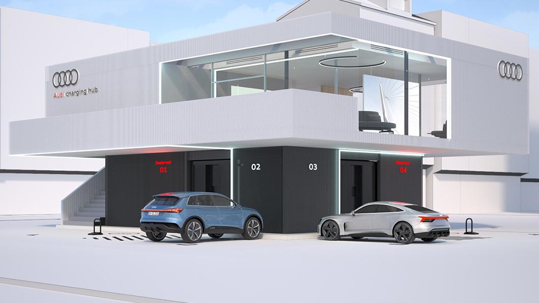 Audi運用淘汰離電池打造出新的充電中心。(圖片來源/ Audi)  淘汰電動車再利用 Audi打造高效充電中心