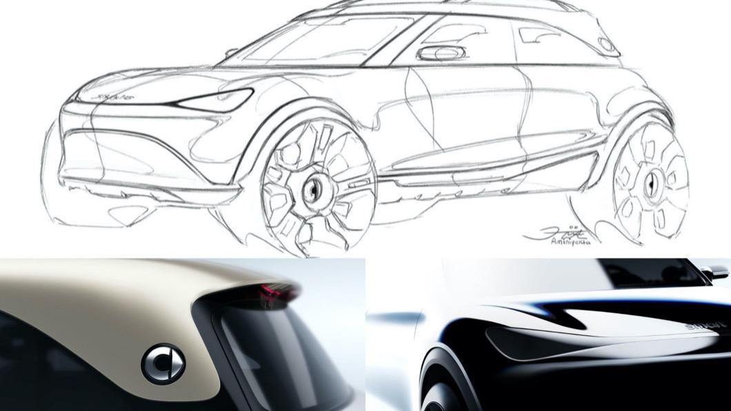 日前Smart發布了全新純電SUV概念車設計圖,並預告最快今年慕尼黑車展將會亮相。(圖片來源/ Smart) Smart也要出「純電」休旅 續航力近700公里!最快2022年量產