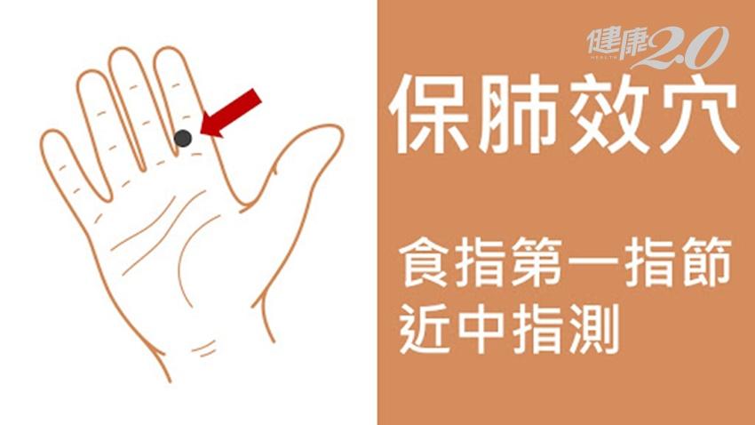 打不到新冠肺炎疫苗 心驚驚!中醫師3招教你自保、顧肺穴在手指這裡
