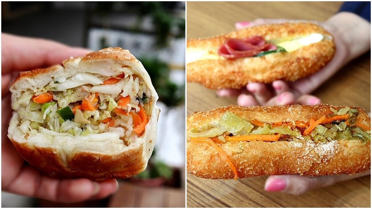 在地人的回憶!50年水煎包「高麗菜+冬粉」內餡超飽口,香脆酸菜堡冷了也好吃