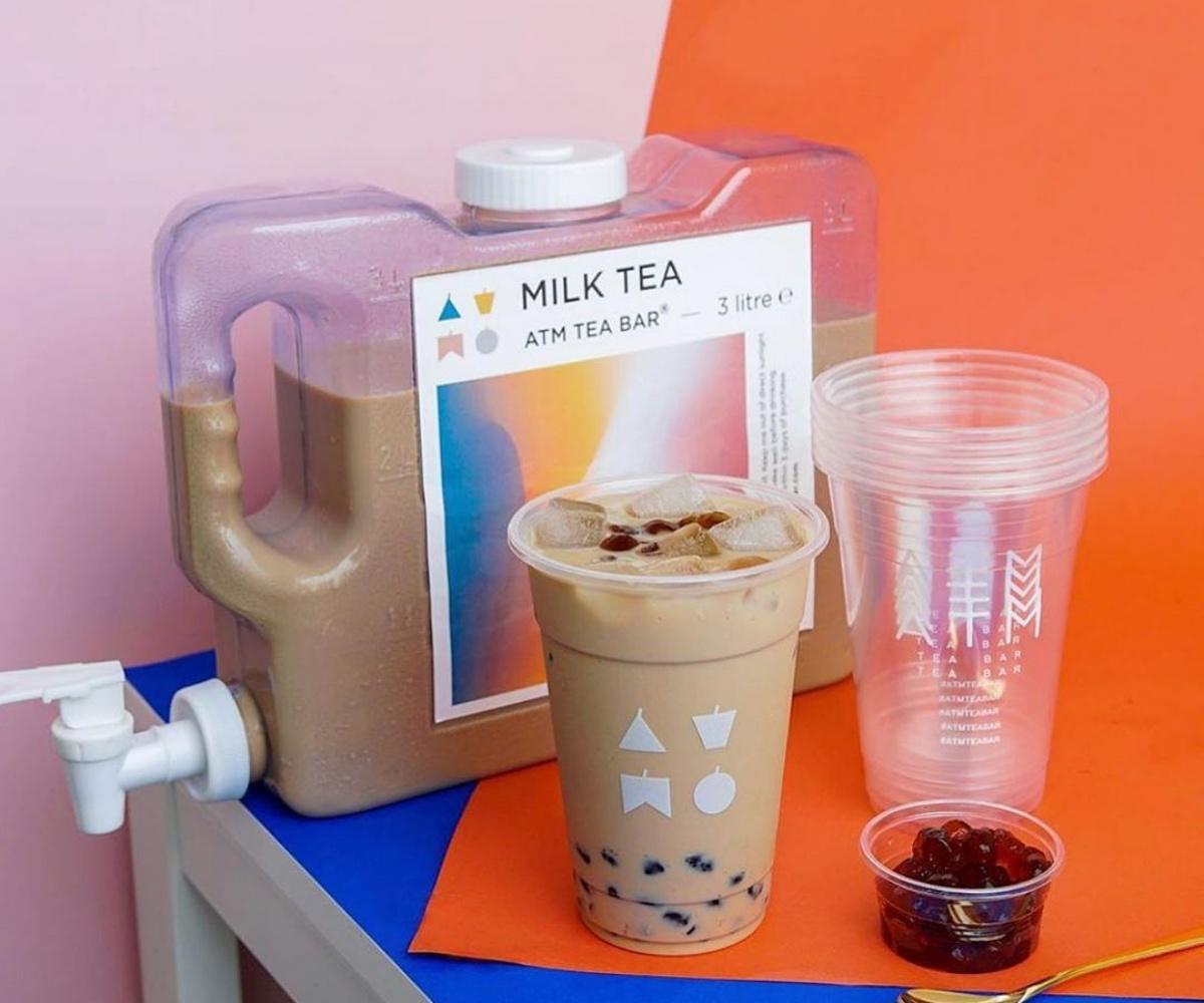 奶茶控福音!泰國推超狂「3公升奶茶飲水機」,加碼「奶茶補充包」無限暢飲