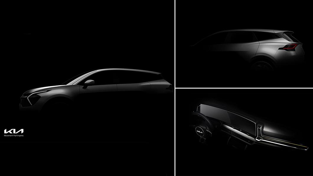 Kia預告新世代Sportage即將現。(圖片來源/ Kia) 大改Sportage車內就有大尺寸曲面螢幕 外觀全面向EV6看齊
