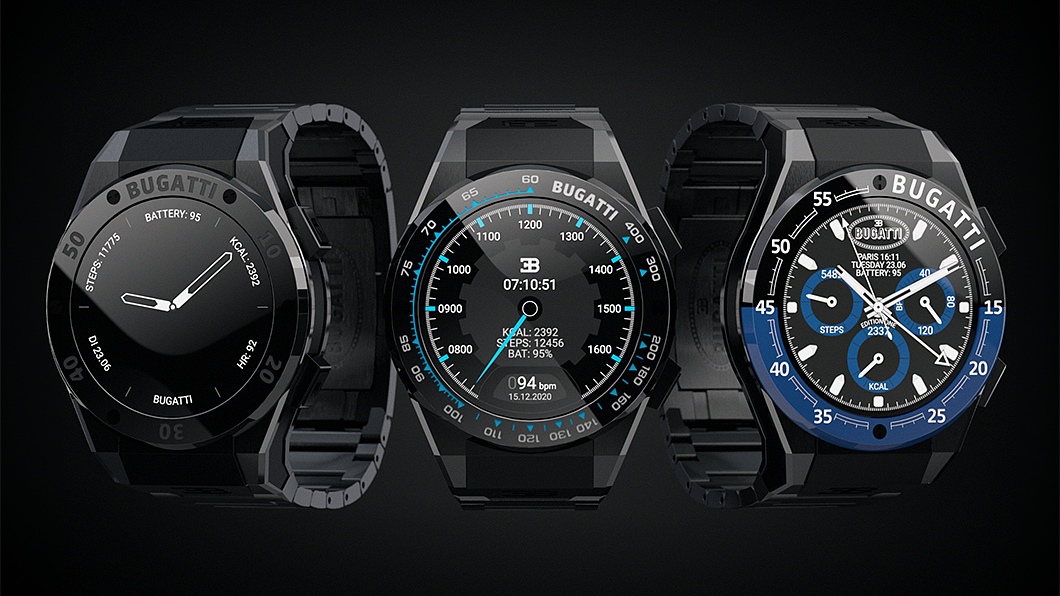 Bugatti推出三款「平價」智慧腕表。(圖片來源/ Bugatti) Bugatti推血氧偵測智慧錶 不用特價也能買得起!
