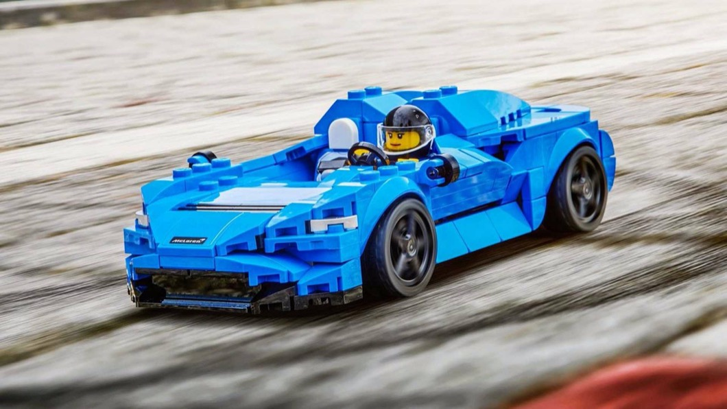 樂高日前正式推出Speed Champions系列的McLaren Elva。(圖片來源/ Lego) 樂高McLaren Elva登場 收藏超跑沒負擔