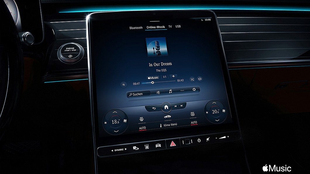 Mercedes-Benz與Apple Music合作,將線上串流音樂服務導入車內。(圖片來源/ Mercedes-Benz) 賓士新車將內建Apple Music S-Class與C-Class優先開放