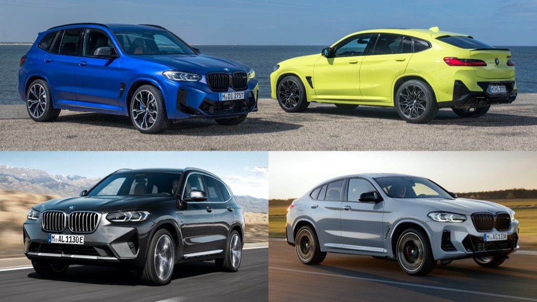 BMW小改款X3與X4在正式發表之前就相當受到關注。(圖片來源/ BMW) BMW小改款X3與X4正式登場 M Competition版本同步推出