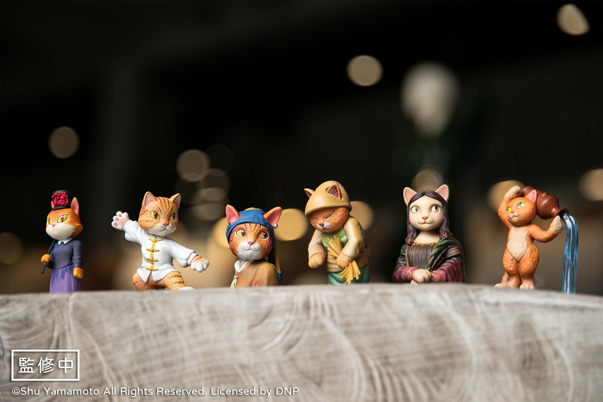 超Q「貓美術館」實體化!〈貓娜麗莎〉〈拾貓草〉6款公仔首登場,畫框、背景也神還原