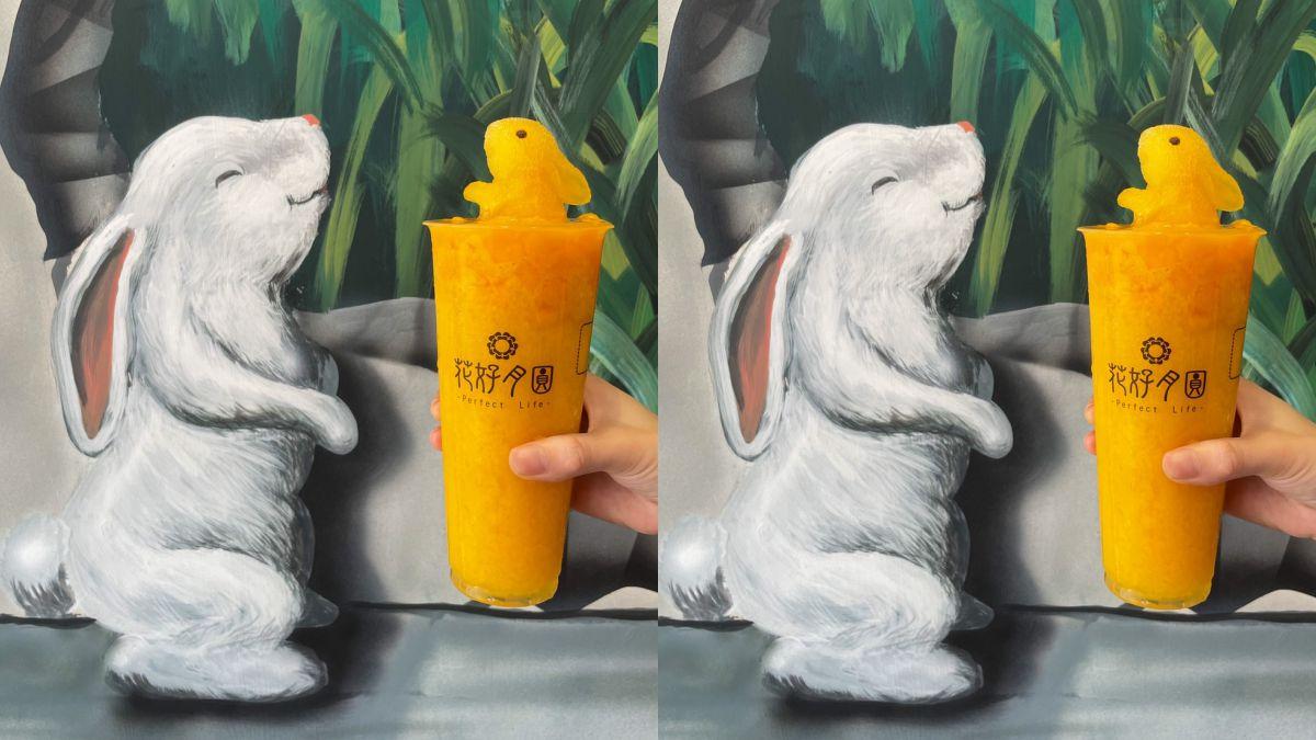 萌到捨不得咬!人氣手搖飲推「貴妃兔兔」芒果冰沙,還有綠茶、氣泡飲可以選