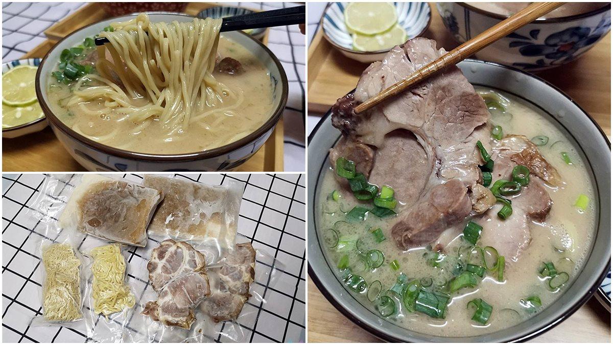 在家煮出4.9星美味!正宗福岡拉麵調理包得預購,神還原巨無霸叉燒、100%豬骨湯頭