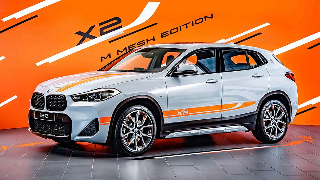 BMW X2 sDrive20i M Mesh Edition,透過M Mesh Edition專屬對比色車身彩繪營造動感氛圍。(圖片來源/ BMW) 2022年式BMW X2登場 M Mesh Edition車身彩繪超潮