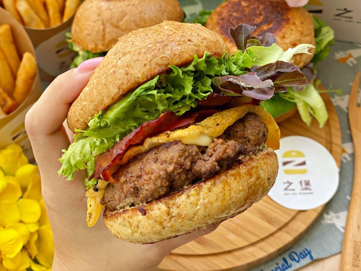 一口咬不下!外帶超唰嘴「虱目魚漢堡」澎派套餐只要190元,厚實多汁澳洲和牛堡也必點