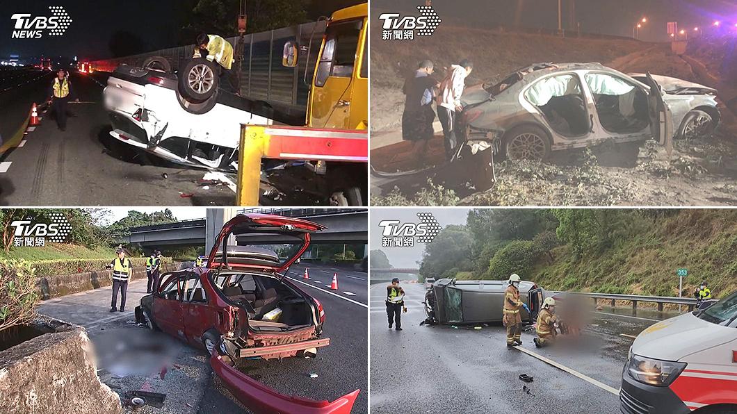 今年截至5月為止,國道A1事故總數為29件,較去年增加多達16件。(圖片來源/ TVBS) 上半年國道死亡事故倍增 兩致命關鍵絕命終結站真實上演