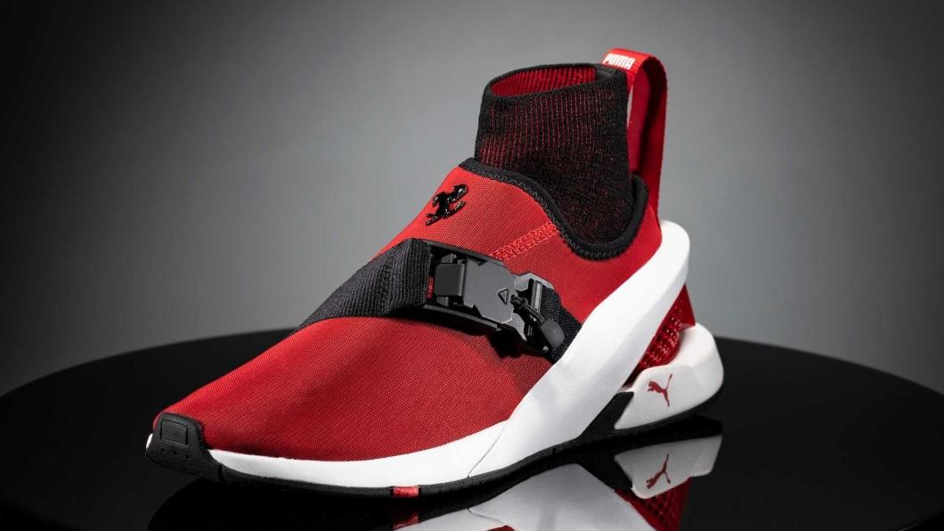 Puma與Ferrari推出ION F聯名鞋款,簡潔的設計靈感來自SF90 Stradale。(圖片來源/ Puma) Ferrari與Puma聯名 ION F有SF90 Stradale靈魂